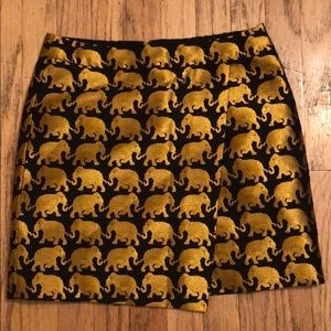 J Crew origami skirt in elephant parade